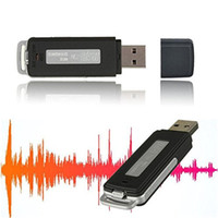Wholesale Multifunctional Rechargeable Mini Audio Recording Device Digital Voice Recorder USB Flash Drive High Quality