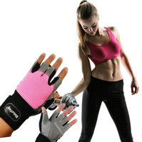 Wholesale 2017 Hot Fashion Sports Exercise Gloves Cycling Bicycle Half Finger Short Gloves