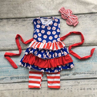 Girl baseball baby clothes - Summer design baby girls baseball season style boutique ruffles cotton capri striped belt outfit clothes matching accessories