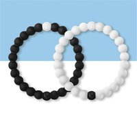 Wholesale 1 Original Black and White Silicone bracelets colors New shark Mud beaded bracelets with Tag