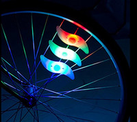 bicycle alarms - Waterproof Bike Bicycle Cycling Spoke LED Neon Light Wire Safety Alarm Lamp Colorful Mountain Road Bike Cycling Led Lamps