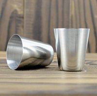 Wholesale ml Mini Stainless Steel Wine Glasses Shot Glasses Barware Cup Use Travel Camping Whisky Flask Wine Kit Cups
