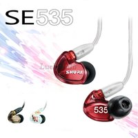 bass logos - 2016 New SE535 igh Quality Earphones IE80 Hifi Earbuds Earphone Noise Cancelling Headset Bass Headphones with Logo DHL Free Ship