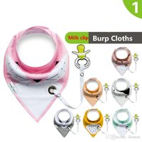 Red baby bib clip - Baby double triangle towel cotton saliva towel clip the new bib and milk baby bib ins hot style maternal and infant supplies