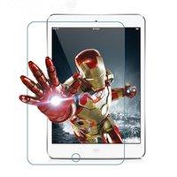 Al por mayor-caliente para el iPad 2 3 4 protector de la pantalla de cristal templado para ipad2 ipad3 ipad4 9.7inch con la película protectora de la caja del paquete al por menor