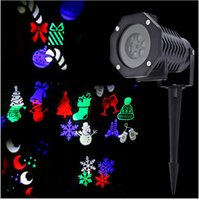 Wholesale New Arrival Multicolor Christmas LED Projection Lamp Waterproof Rotating Lights Snowman Pumpkin Animals For Christmas decorative LED lawn