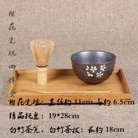 Wholesale 4pcs set Matcha Tea Gift Set Matcha Bowl Chasen and Chashaku Japan set to Tea Ceremony Teawares Japanese