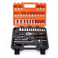 Camp Tools auto universal joint - 53pcs Automobile Motorcycle Repair Tool Case Precision Ratchet Wrench Sleeve Universal Joint Hardware Tools Kit Auto Repairing B