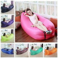 Wholesale 2017 Fast Inflatable Bags lounger air sleep camping sofa portable camping travel outdoor hangout Beach Bed laybag lazy bag