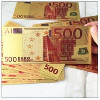 banknote collection - New Coloured EUROS Gold Foil Banknotes Commemorative Money for Christmas Gifts Hot Collections Arts Crafts for Home Decoration