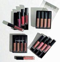 2017 Nouveau kit liquide 4pcs de rouge à lèvres réglé les rouge à lèvres liquides mattes roses rouges nus d'édition de Brown