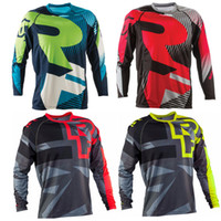 Wholesale The new Canadian RACEFACE seven AM DH take custom long sleeve cycling jerseys downhill