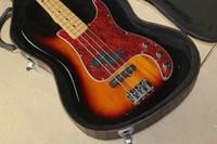 Wholesale high quality New Custom Guitar F Precision make Bass Guitar Strings sunburst Electric Guitar with case