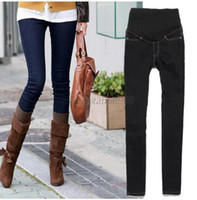best maternity jeans - best price for Trendy Pregnant Women Elastic Jeans Pencil Pants Maternity Trousers