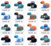 Wholesale 2017 NEW MIA Dolphin Fifty Cap Snapback On Field Sideline Hat Throwback Blue Yellow Embroidery Logo Sport Caps Adjustable Size