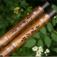 bass f - ZWB005 type Freeshipping Chinese Bamboo flute Dizi transparent wire for professional player copper joint Bass G A bB Key C D E F G