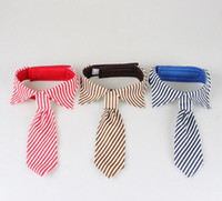 Wholesale Stripes Large Dog Neckties For Big Puppy Pet Dogs Adjustable Ties Grooming Bow Ties Pet Accessories G3