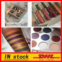 Wholesale in stock new High quality HOT sell newest Kylie Jenner Kyshadow Pressed Powder Eyeshadow Kit Colors Eye Shadow Palette