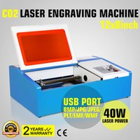 Wholesale 40W LASER ENGRAVER ENGRAVING MACHINE Updated HIGH PRECISE and HIGH SPEED Third Generation CO2 Laser Engraving Cutting Machine USB PORT