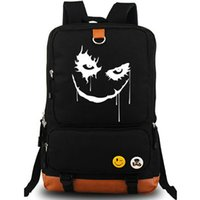 batman pack - Batman backpack Joker star printing daypack Clown schoolbag Film rucksack Sport school bag Outdoor day pack