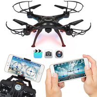 Wholesale LAMASTON X5SW WIFI HD Camera RC Quadcopter Kit FPV Real Time RC Airplane Remote Control Helicopter Drone with Battery For Christmas Gift