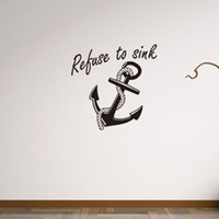 anchor wall decoration - 91x95cm Large Cartoon Anchor Vinyl Wall Stickers Removable Art Mural for Home Decoration Kids Bedroom