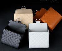 Wholesale Leather Car Air Outlet Bag Drink Holder Storage Box Pocket Mobile Phone Case Bags Travel Car Organizer