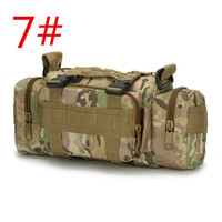 Wholesale 10color waist bag camouflage army multi function p sports backpack climbing outdoor adventure tactical backpacks gear water resistance camo