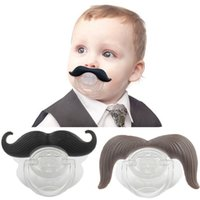 Wholesale Toddler Pacy Orthodontic Teat Infant Baby Christmas gift personality Funny mustache Silicone Baby Pacifier Dummy Nipple Teethers