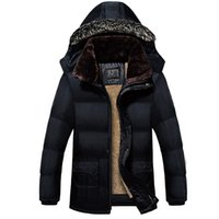 Wholesale Men Waterproof Fur Collar Winter Parkas Hooded Coat Men s Down Jacket Degree Thick Warm Duck Down Winter Jacket Y115