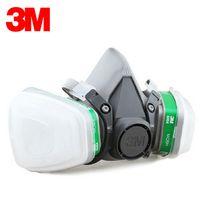 ammonia organic - 3M Respirator Reusable Half Face Mask Respirator Ammonia Methylamine Organic Vapor Cartridge Items for Set LT007