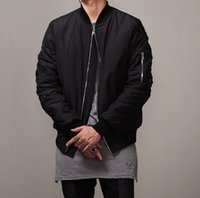 Wholesale Fashion Mens Military Style Bomber Hip Hop Jacket Black Mens Slim Fit Hip Hop Varsity Baseball Jacket N035