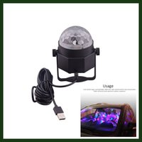 ball connection - Mini Disco Ball Lights Led Car decoration Lighting with USB Connection Line for KTV Disco Club Pub Party Wedding Show Decoration