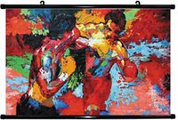 apollo spray - x14 inch epro by Leroy Neiman Rocky vs Apollo hanging scroll Poster HD HOME Hanging scroll Decor ART CANVAS printing