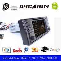 Wholesale Android Car DVD Player for BMW E38E39E53X5 Din Quad Core Radio GPS Navi WIFI G Resolution D Map Google
