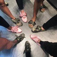 Wholesale 2017 new rihanna design silk satin ribbon bowtie lace up casual shoes for women and men