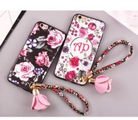 Wholesale 20pc Silicone sets for iphone case and iPhone plus Painted case with Lanyard for iPhone case best for resell