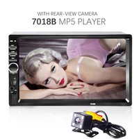 Wholesale 7018B Inch DIN Car Radio Camera Audio Stereo Player Bluetooth Handsfree Car MP5 Video Player MMC USB FM For Peugeot Ford
