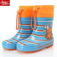 Wholesale Children Rainboots Boy Girls Waterproof Cartoon Rubber Water Shoes Summer Fashion Baby Rain Boots Mid Calf New Student Child Cute Shoes