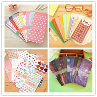 Wholesale bag Cute Cartoon Kawaii Paper Colorful Envelope for Gift Baby Korean Stationery