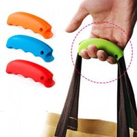 Wholesale Portable Silicone Shopping Bag Holder To Protect Your Hand Basket Carrier Grocery Holder Handle Comfortable Grip Labor Saving Tool Colorful