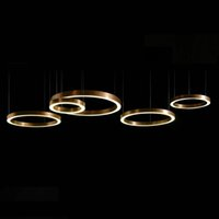 Wholesale postmodern Ring type LED gold chandelier inch inch inch inch