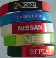 custom metal letters metal clip high quality custom silicone wristband with your writing or logo