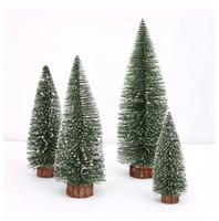 Wholesale Miniature Tree With White Cedar Desktop Home Festival Decorations Artificial Christmas Tree
