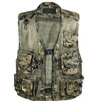 Wholesale Men Camping Hunting Fishing Camouflage Jungle Denim Vest Outdoor Multi Pocket Military Veste Homme Waistcoat Men Colete