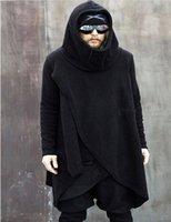 asymmetrical hoodie men - Men s Turtleneck Irregular Asymmetrical Hoodies Fashion Warm Soft Fleece Casual Long Hooded Sweatshirts Autumn Winter