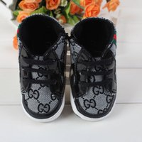 Wholesale Baby kids letter First Walkers Infants soft bottom Anti skid Shoes Winter Warm Toddler shoes colors