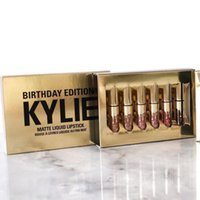Wholesale 2016 Mini Leo Kit Lip Kylie Jenner lipgloss Cosmetics Matte Lipstick Lip gloss Birthday Limited Edition with gold