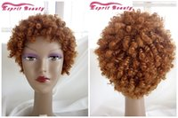 Curly best wig cap - Best Sell Natural Brown Color Afro Kinky Curly Fashion Hair Wigs Classic Cap Synthetic Curl Wigs For Black Women Hairstyle Cabelo Pelo WVG