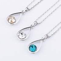 austrian cakes - 2016 girls love the latest version of sell like hot cakes angel tears Austrian crystal pendant necklace South Korea Korean jewelry in Europe